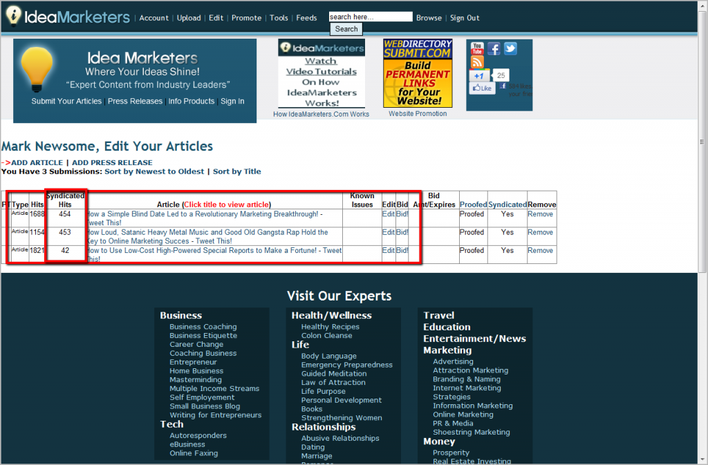 Your small business marketing ideas tool kit should include  article marketing!