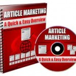 Article marketing should definitely be a part of your small business marketing ideas roster.