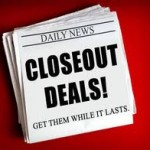 Closeout sales on furniture and other dead inventory equals big bucks!